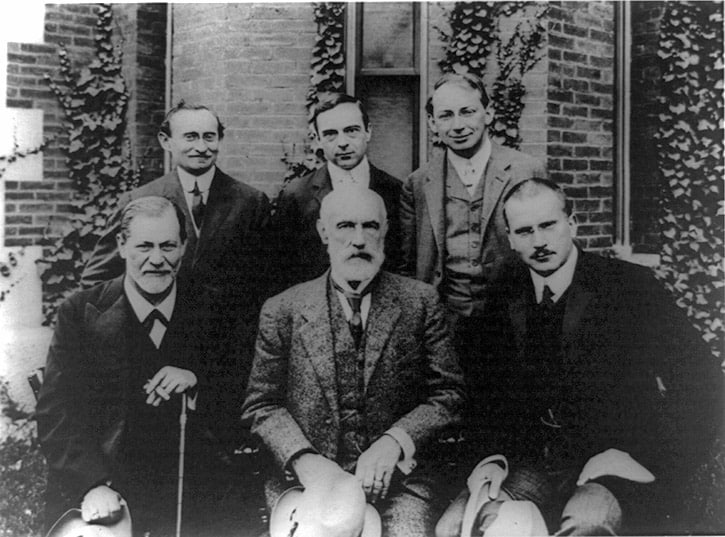 S. Freud, G. Stanley Hall, C. Jung; A.A. Brill, E. Jones, and S. Ferenczi