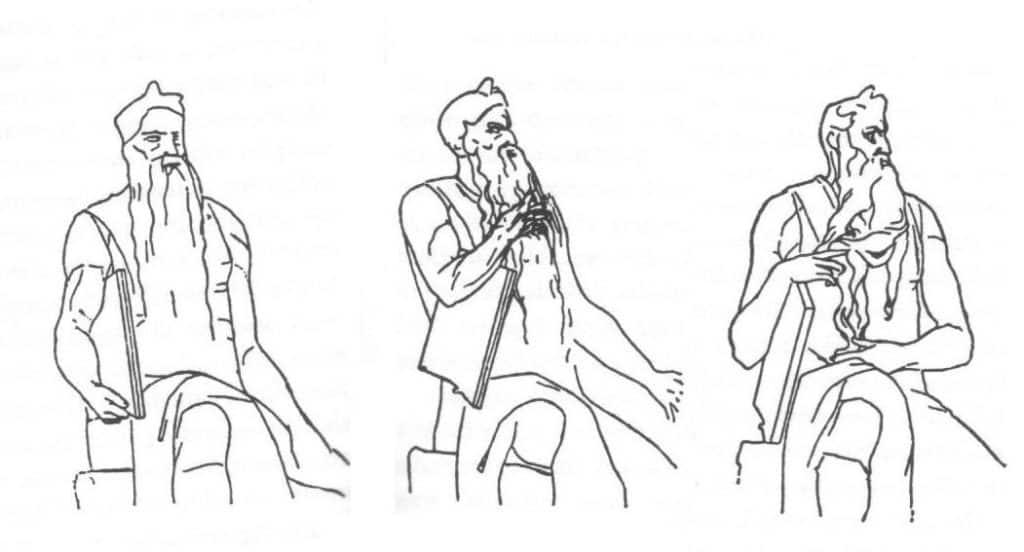 Schema freudiano del Mosè di Michelangelo