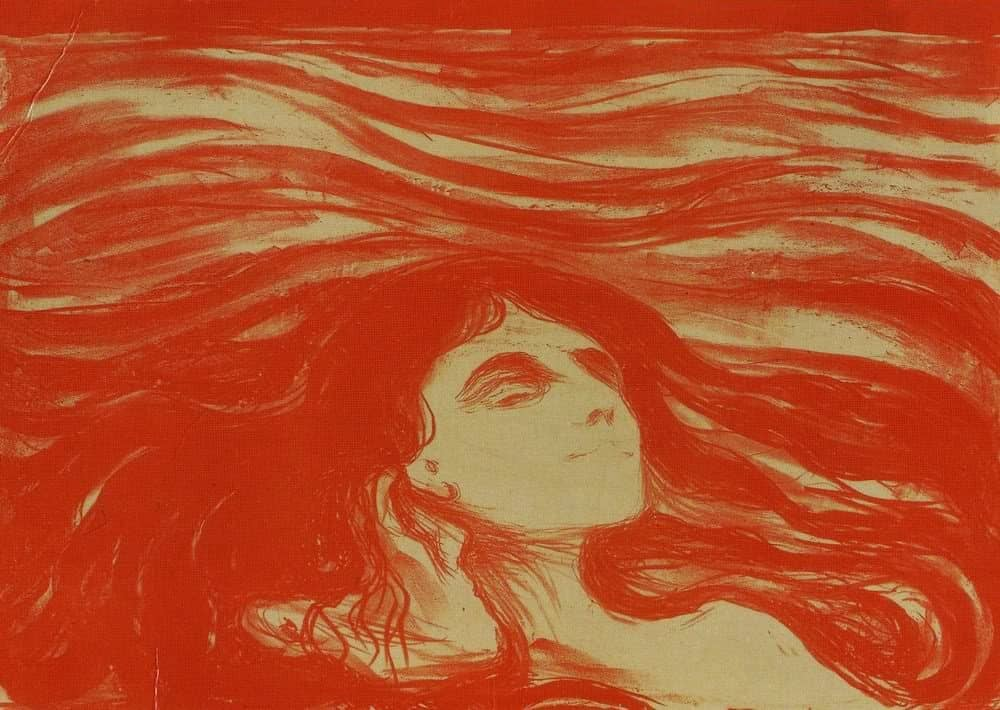 Edvard Munch - On the Waves of Love (1899)