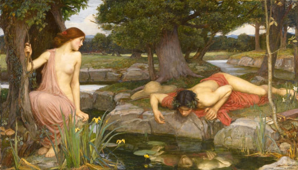 John William Waterhouse - Echo and Narcissus (1903)